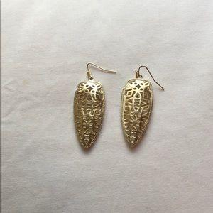 Kendra earrings. Gold cut outs.